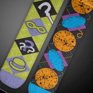 Batman - Riddler & Two-face Mismatched Socks